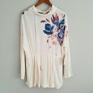 Free People Gemma floral tunic mini dress M